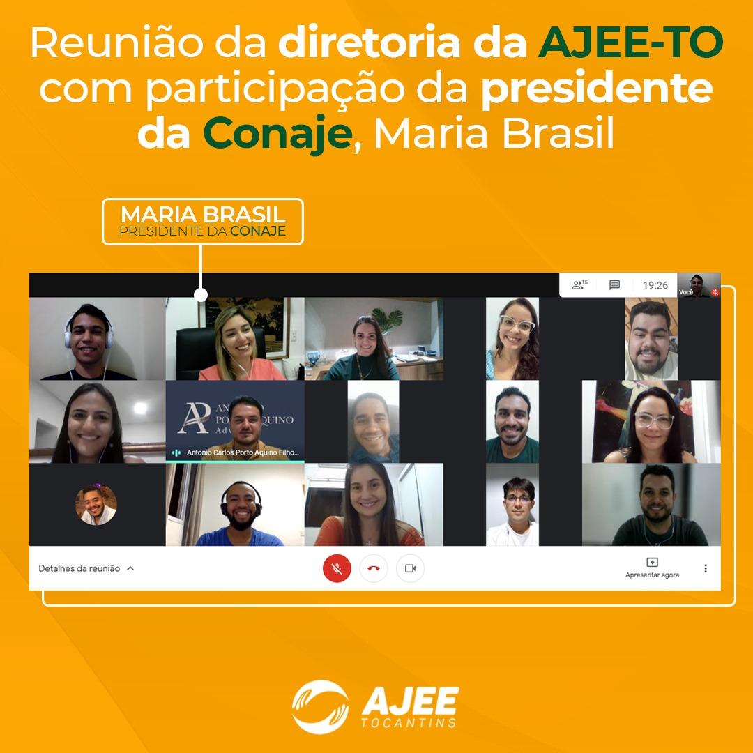 AJEE realiza reunião entre diretoria e a nova presidente da CONAJE, Maria Brasil
