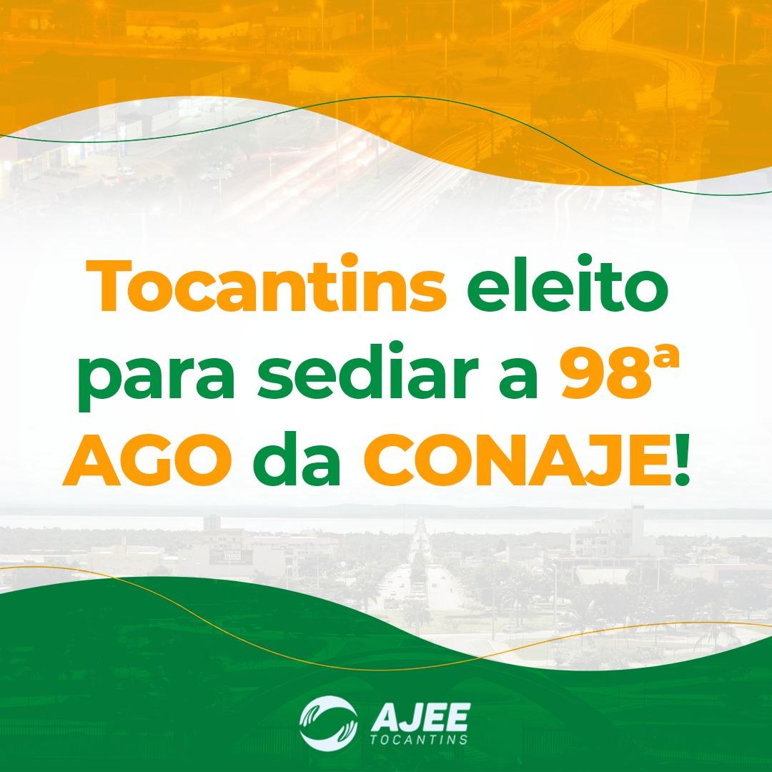 Tocantins eleita para sediar a 98ª AGO da CONAJE
